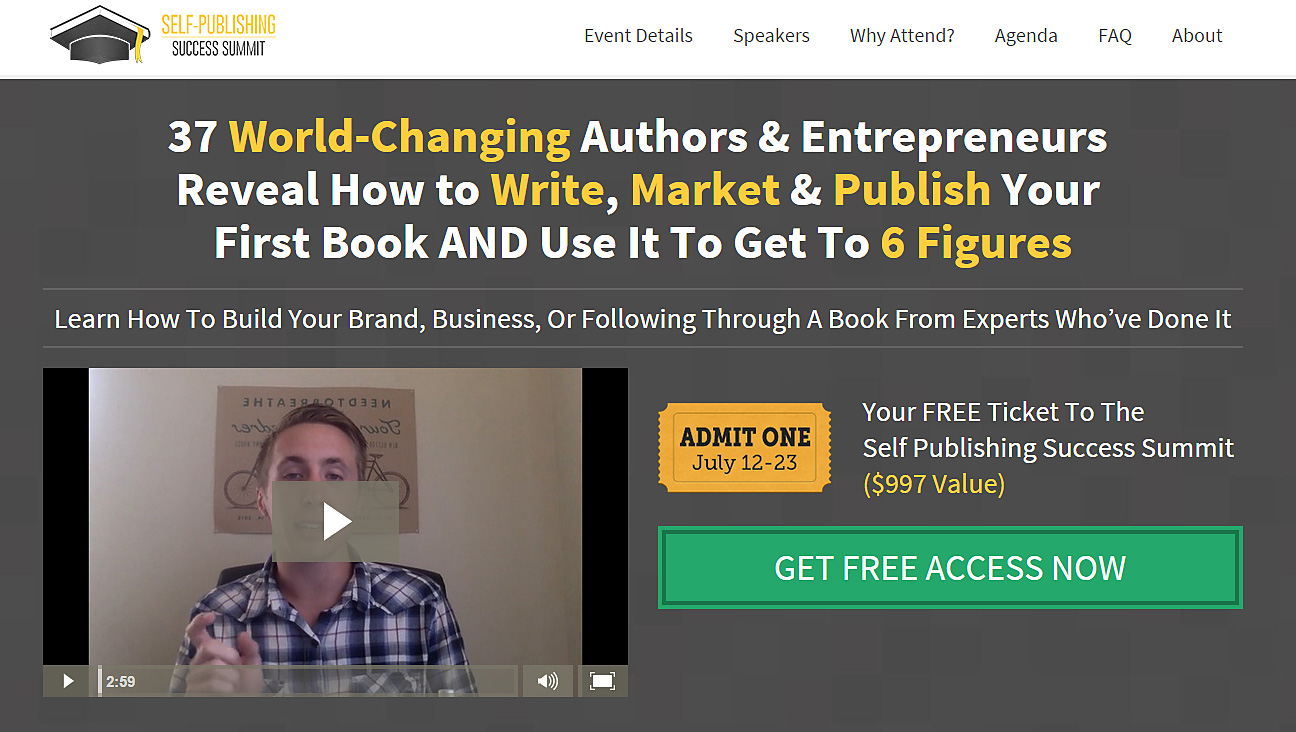 Self publishing success summit