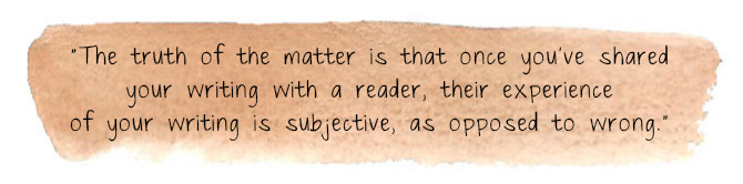 What is subjective writing?