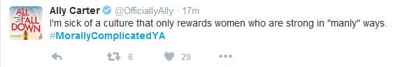 Ally Carter Tweet