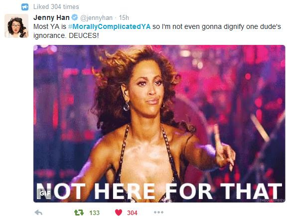 Jenny Han Tweet